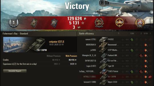 Replay – SU-130PM, Baía dos Pescadores, Batalha padrão