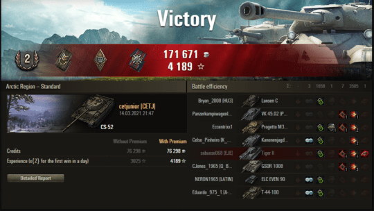 Replay – CS-52 LIS, Linha Mannerheim, Batalha padrão
