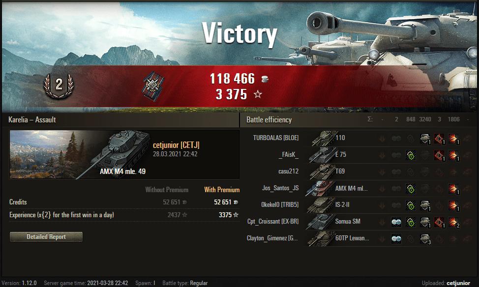 Replay – AMX M4 mle. 49, Carélia, Assalto